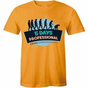 5 Days Professional 2 Days Unprofessional T-shirt